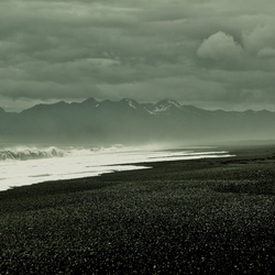 zwarte (lava)strand van Lonsvik IJsland