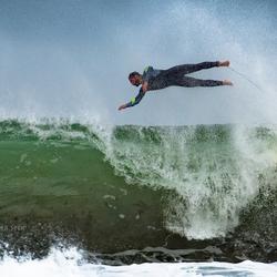 Vliegende surfer