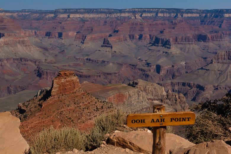 Ooh Aah Point - Ik begrijp de naam van dit punt wel. Het waren ook de eerste woorden die in mij opkwamen toen ik over de rand keek.<br /> Grand Canyo