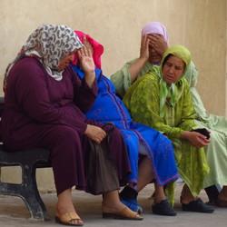 Geanimeerd gesprek in Marrakech