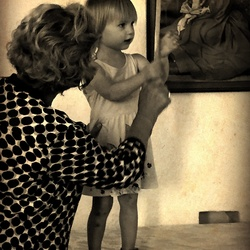 Oma en kleinkind +