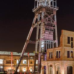 mijntoren bij nacht