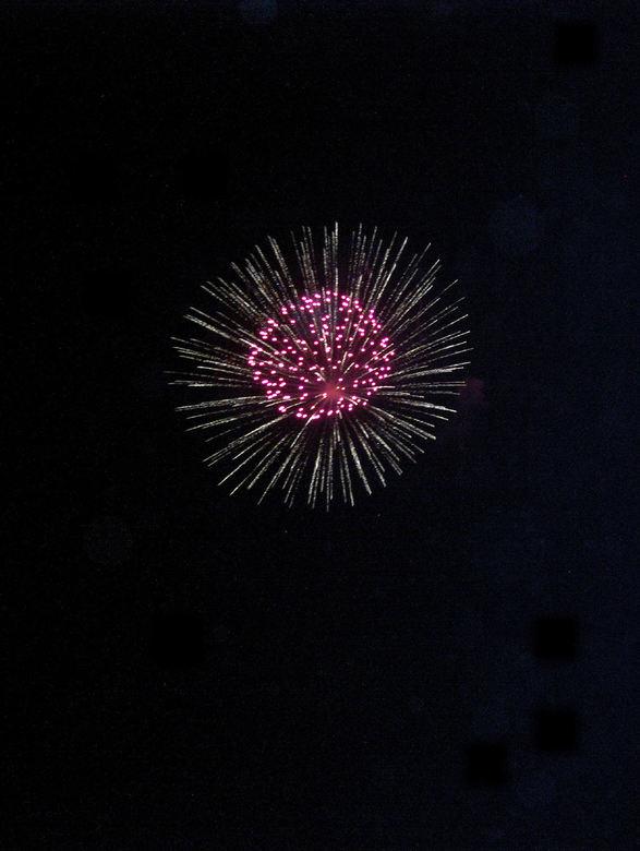 Vuurwerk boven het Gardameer - Je ziet het niet maar dit is echt boven het Gardameer.
