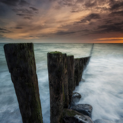Poles, waves and sunset