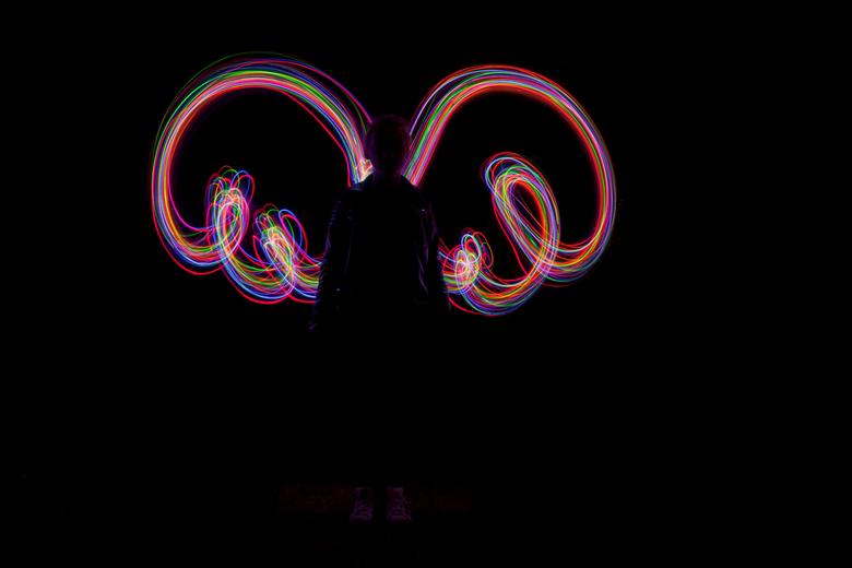 Light angel  - Light graffiti angel
