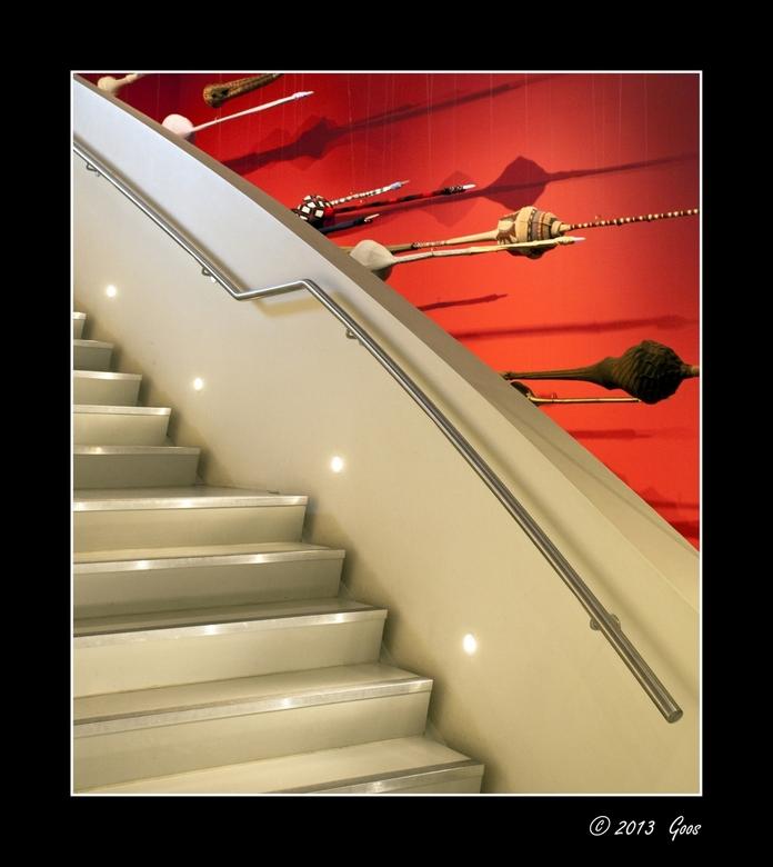 Groninger museum 36 - Variatie met de trap.