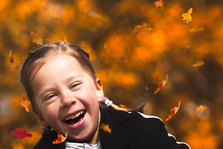 vrolijk herfstportretje -