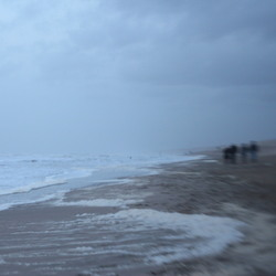 Lensbaby aan het strand