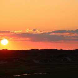 Sunset slufter Texel