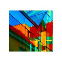 Spiegelingen en doorkijk in het gebouw De Fundatie in Zwolle