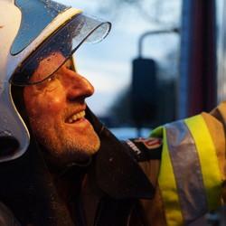 Willem's laatste oefening bij de brandweer