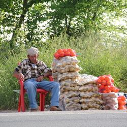 Verkoop langs de weg