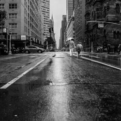 Regen in New York City