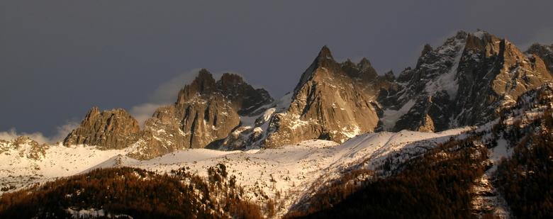 Chamonix landschap - Het mooie landschap rond Chamonix in de winter.