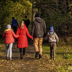Nice walk in autumn atmosphere