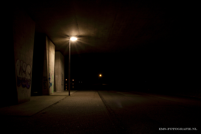 in too the Dark - Viaduct by night