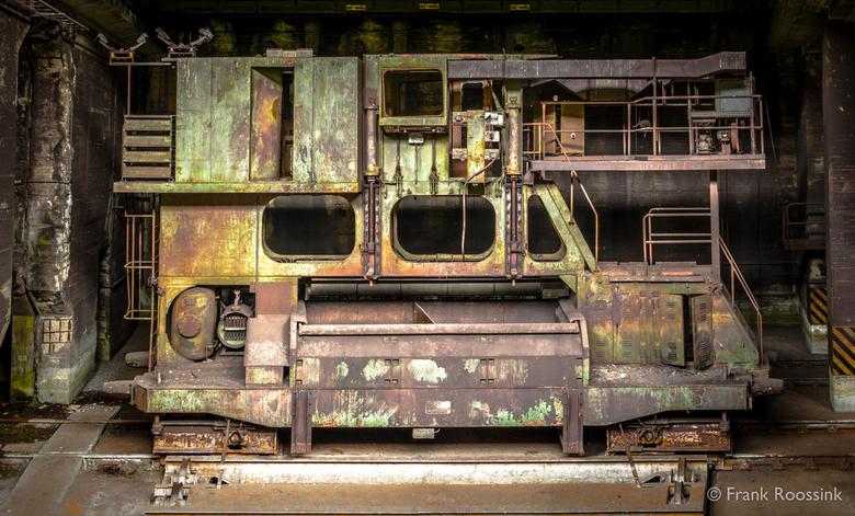 Industrial - Foto van een van de werktuigen die gebruikt werden in de hoogovens.