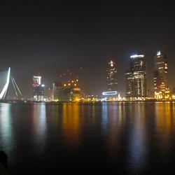 Skyline Rotterdam by night 2