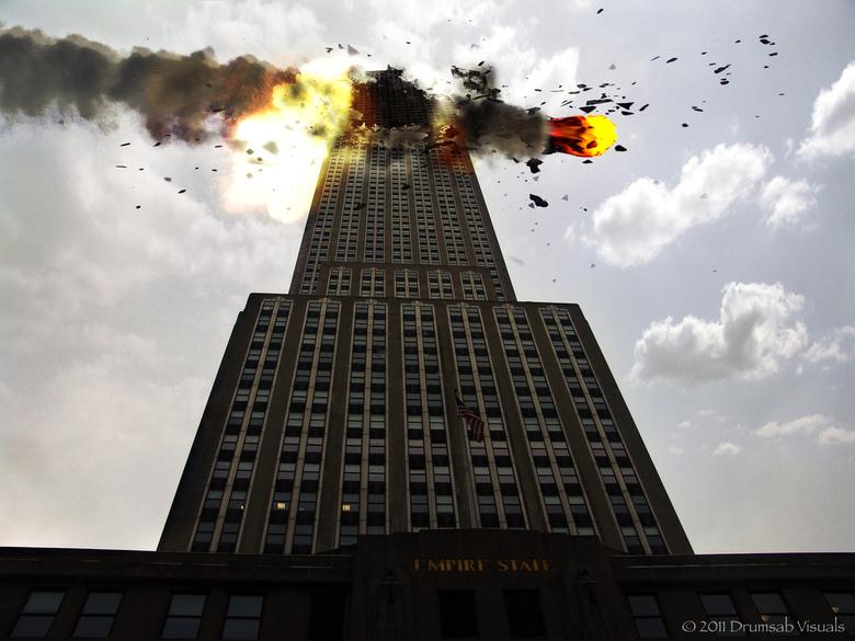 Meteorite on Empire State - Beetje in PS lopen klooien.