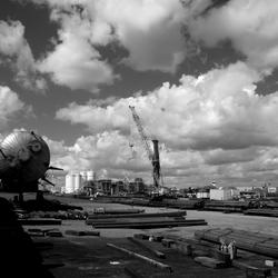 Of in zwart/wit: Industrielandschap Moerdijk