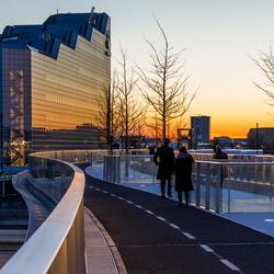 Zonsondergang bij Moreelsebrug Utrecht