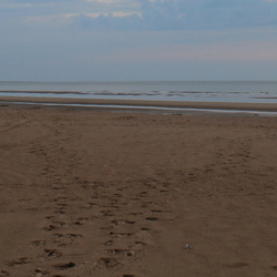 Voetstappen in 't zand