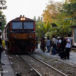 Treinstation Phaya Thai en zijn leefomgeving in Bangkok