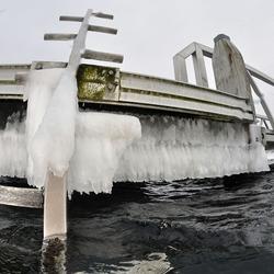 Bevroren duiktrap