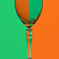 Reflectie in het glas