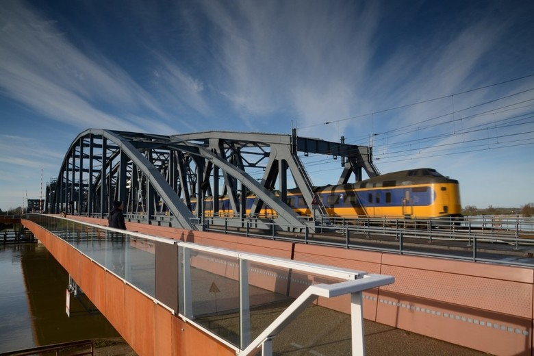 modelspoorbaan - Oude Ijsselbrug bij Zutphen (onbewerkt met gebruikmaking van een .9ND Lee medium filter)