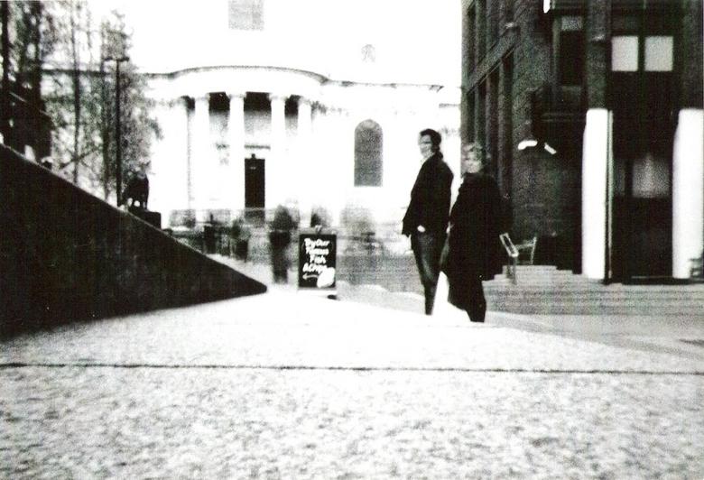 St Paul en London - Pinhole foto van de St Paul en straat in London