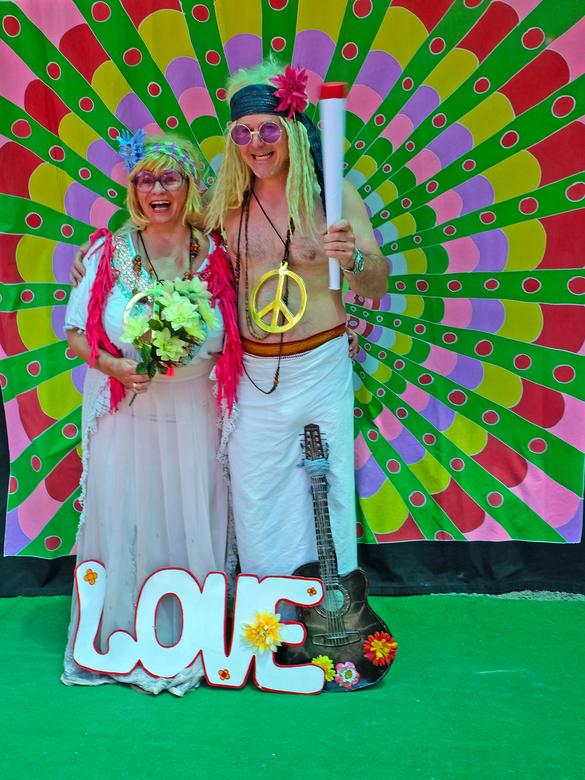 Op de hippie markt - De hippiemarkt van Ibiza, een enorme kitsch, maar wel leuk