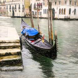 Venetië van foto naar tekening