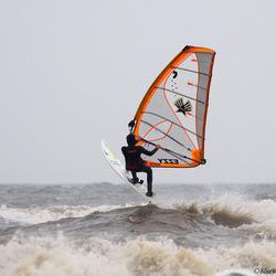 Windsurf action te Noordwijk aan zee