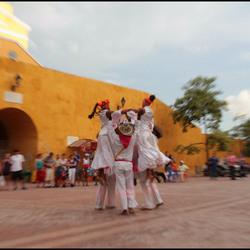 Cartagena dansers op het plein