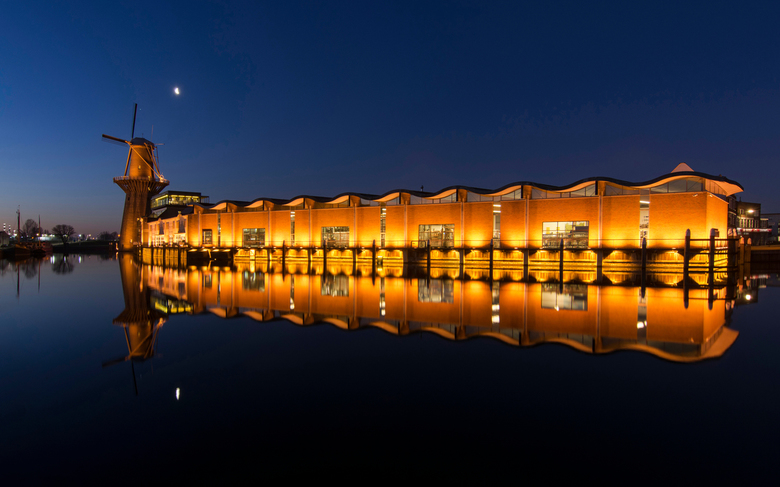 Nolet Distillery - De Noletmolen (ook wel De Nolet genoemd) aan de Hoofdstraat in de Nederlandse stad Schiedam is de hoogste molen ter wereld (42,5 me