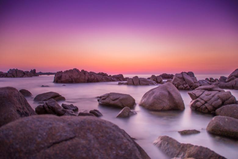Sardinië zonsondergang - Eerste keer lange sluitertijd op een zonsondergang uitgeprobeerd.