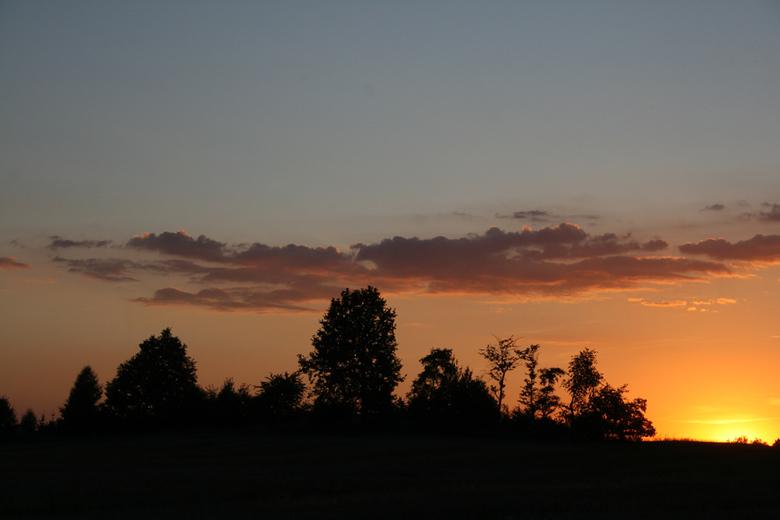 Sunset at Uciechów - Swidnica region, Poland, July 2008