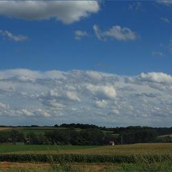 Landschap met een mooie lucht