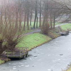 Water Wageningen niet schaats proof....