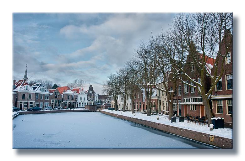 Kerst 2010 - Een oudje dus, maar met de sneeuw die nu valt kon ik het niet laten. Het Kolkje in Spaarndam.
