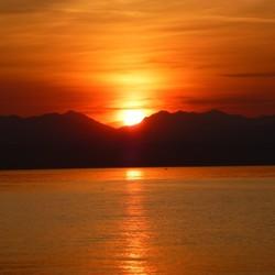 Zonsondergang lago di garda Italie