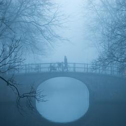 Reguliersgracht in de mist