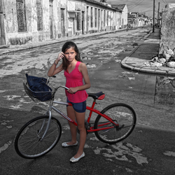 Straatbeeld cuba(litlle girl)