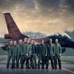 RNLAF F-16 Demo team.