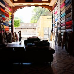 Egyptian fabric store