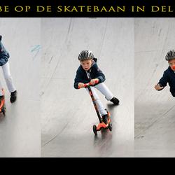 Abe van den Berg op de skatebaan in Delft