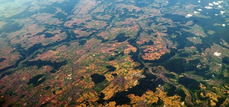 Lapland - Een stukje Duitsland van boven, geen idee waar dit precies was, maar het zag er fraai uit!<br /> <br /> Dank Tom, voor de suggestie voor d