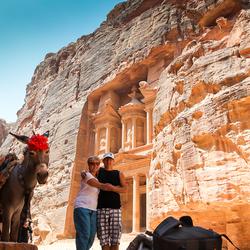 Donkey travel to Petra