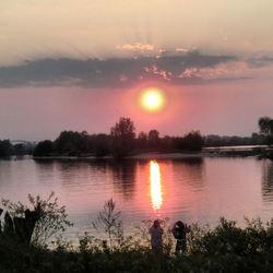 ondergaande zon bij Empel